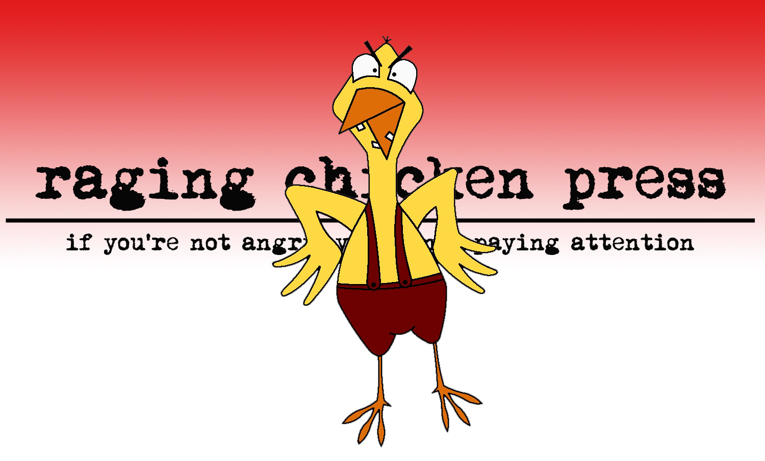 raging chicken #3 by Liz Folk, Raging Chicken Press contributor. See more of her work @ http://www.inkletween.com/