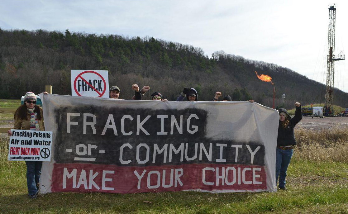 Fracking or Community Banner