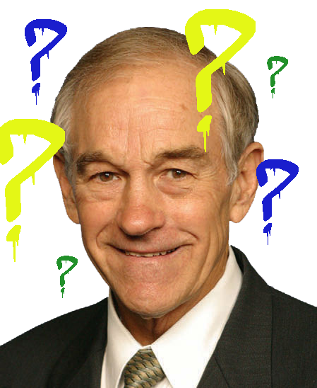Ron Paul Question Marks