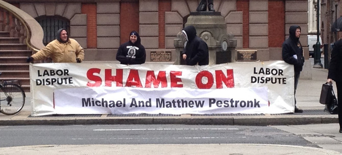 Shame On Post Bros Banner