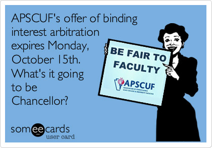 Be Fair to APSCUF - Monday 10-15 Deadline
