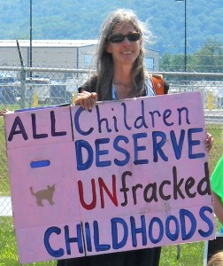 Protester, Schlumberger, Horseheads, New York, Summer 2012