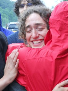 Rachael Leone, at the end of the state police raid at the Occupation of Riverdale, June 12th, 2012