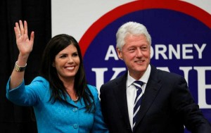 Kathleen Kane and Bill Clinton