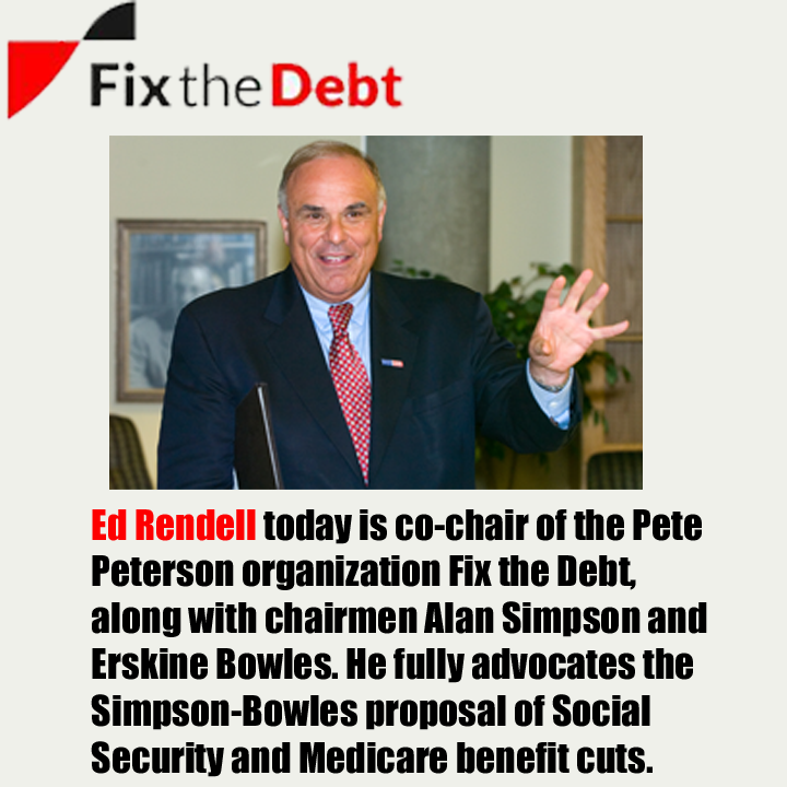 Ed Rendell with Fix the Debt.