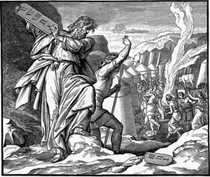 Moses Throws Tablet