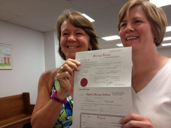 same-sex marrigae license