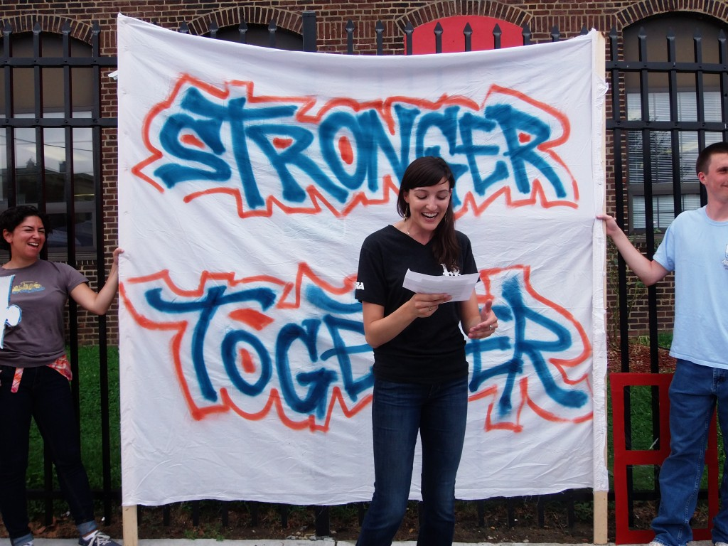 Olney Charter High School Teacher Emily Guck.  Photo Credit: Sean Kitchen