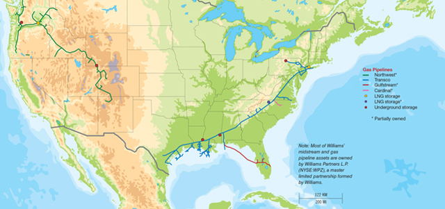 Williams' Transco Pipeline System; Photo Credit: William Huston
