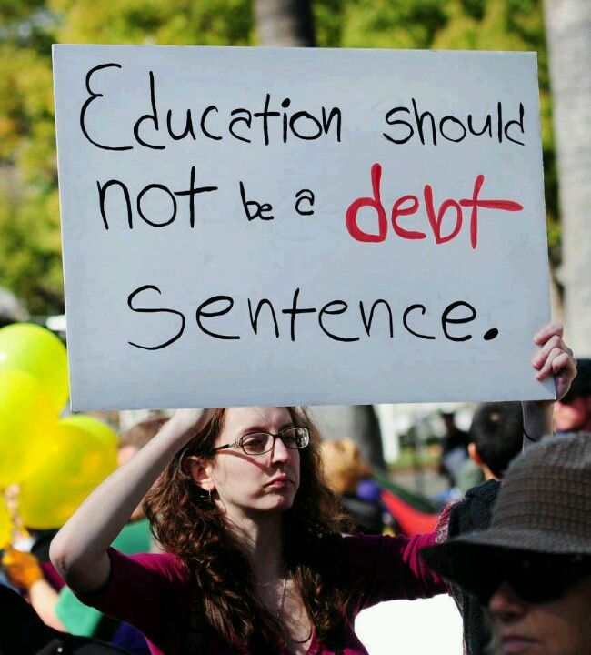 Education Not Debt Sentence