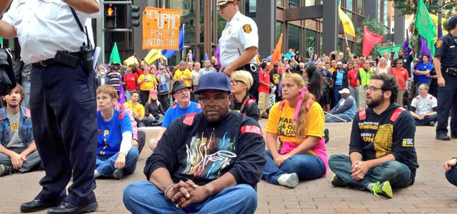UPMC workers will not be moved. Photo Credit: UPMC Workers United, Twitter