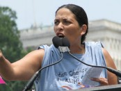 Foytlin speaks at July 13 rally in Washington, D.C.; Photo credit: Caroline Selle