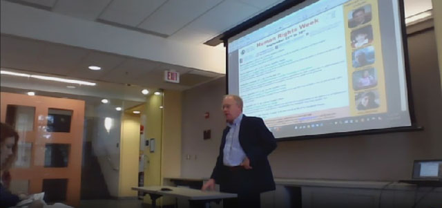 Photo credit: American University SIS USTREAM of Hedges's talk