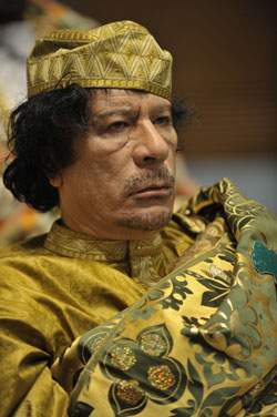Colonel Muammar Qaddafi; Photo Credit: Wikimedia Commons