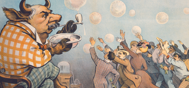 "Image credit: ""Wall Street Bubbles - Always the Same,"" Udo Keppler, 1872-1956"