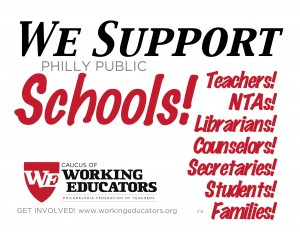 Find out more about what the Caucus of Working Educators is doing to protect public education from the profiteers.