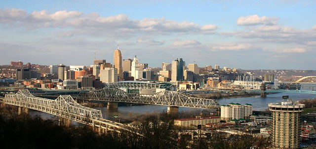 "Photo credit: ""Cincinnati oh skyline"". Licensed under CC BY-SA 3.0 via Wikimedia Commons - http://commons.wikimedia.org/wiki/File:Cincinnati_oh_skyline.jpg#mediaviewer/File:Cincinnati_oh_skyline.jpg"
