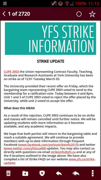 CUPE 3903 Strike Update