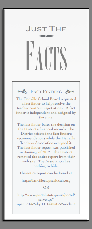 Danville Just the Facts Pamphlet