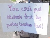 "Photo credit: Screen capture, ""Danville Teachers Strike,"" DailyItemVideo, YouTube"