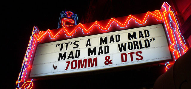 "Photo credit: ""It's a Mad, Mad, Mad, Mad World,"" Steve Rhodes, Flickr (cropped)"