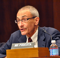"Image credit: ""John Podesta before the U.S. Senate,"" By Mark Warner [CC BY 2.0 (http://creativecommons.org/licenses/by/2.0)], via Wikimedia Commons"