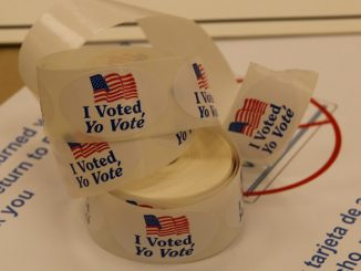 """Photo credit: """"Voting Stickers,"""" OSCE Parliamentary Assembly, Flickr. (CC BY-SA 2.0)"""